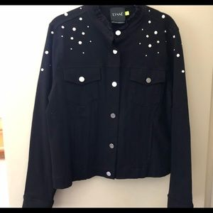 Lysse Stretch Denim  Knit Jacket